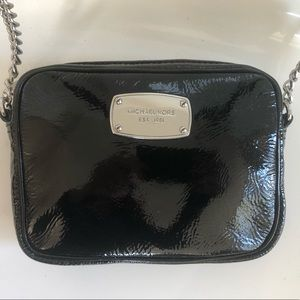 Michael Kors Black Patent Crossbody Bag